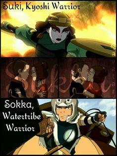 Sukka Suki And Sokka, Mai And Zuko, Avatar The Last Airbender Art, Avatar Aang, Kyoshi Warrior, Atla Memes, Avatar Cartoon, Water Tribe, Avatar Series