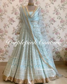 Jan 2020 - This Lucknowi Thread Sequins Work Anarkali is floor length, can be customize as per your styling and measurments. This Fusion look will make you stand out. Indian Wedding Gowns, Desi Wedding Dresses, Indian Gowns Dresses, Pakistani Wedding Outfits, Indian Bridal Fashion, Pakistani Bridal Wear, Pakistani Dress Design, Bridal Outfits, Pakistani Dresses