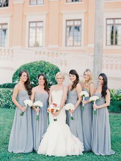 #Bridesmaids | See the wedding on SMP -- http://www.StyleMePretty.com/florida-weddings/coral-gables/2013/12/03/biltmore-hotel-wedding-by-michelle-march/ Michelle March Photography