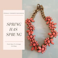 perfect for spring outfits,. Unique matte finish crystals in stunning coral color.  #Femaleownedbusiness#newyorkfashionweek #fashion#chic #bossbabe #Jcrew #fashionblogger  #classic #timeless #forsale #ebay #aesthetic #femaleentrepreneur #shopping #shop #aesthetic #artistic #art #artform #beauty #jewelry #spring #springfashion #spingchic