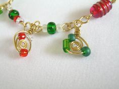Fun Bracelet  Handmade Wire Wrapped Spiral Red by 2012BellaVida, $12.00