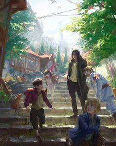 Eren And Mikasa, Armin, Studio Ghibli, Manga Anime, Anime Art, Best Anime Shows, Attack On Titan Fanart, Japanese Names, The Old Days