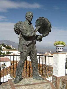 Village Comares, region Axarquia, Andalucía, Spain. The sculpure depicts a man singing verdiales, born from the Moorish collections of ballads. http://www.costatropicalevents.com/en/costa-tropical-events/special-areas/axarquia.html