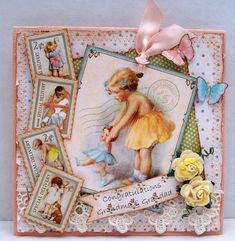 Beautiful Little Darlings card #graphic45