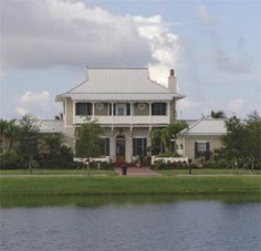 White metal roofs are very popular in Florida!