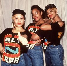 Salt-n-Peppa with Spinderella back in the day...