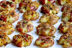 Roasted Baby Red Potatoes, Partially Smashed Down, Drizzled With A Mixture Of Butter, Garlic And Thyme, Then Roasted Again Until Browned And Crispy. | YouRecipe