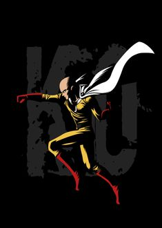 ONE KO poster by from collection. One Punch Man Funny, One Punch Man Anime, Anime One, Me Me Me Anime, Anime Guys, Gorillaz, Fun Army, Saitama One Punch Man, Rapper Art
