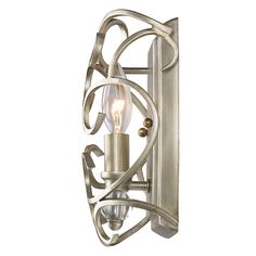 Golden Lighting's Colette 1 Light Wall Sconce #4616-WSC WG