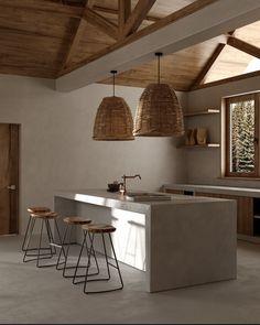 Interior Architecture, Interior And Exterior, Kitchen Interior, Modern Interior Design, Beton Design, Küchen Design, Wabi Sabi, Casa Wabi, Casa Petra