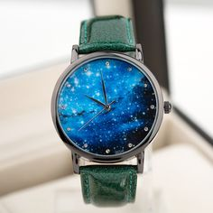 Watch+Moon+Photo+Unisex+watch+Women+Men+Wristwatch+from+MARKET+CRAFT+INDIA+by+DaWanda.com