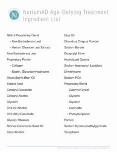 Nerium AD, anti aging night cream ingredient list. Just one product, once a day.   www.Nicolelawrence.nerium.com