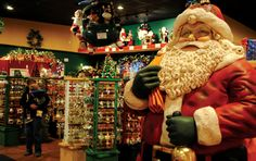 And it's close to Santa Claus too, the man, the myth, and the amusement park and store!