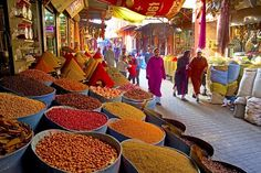 Local cookery courses in Marrakesh often include a visit to the local souk to buy herbs and spices. Marrakesh, Marrakech Morocco, Aurora James, Beef Cheeks, Book Cheap Flights, Jolie Photo, City Break, Learn To Cook, Cooking