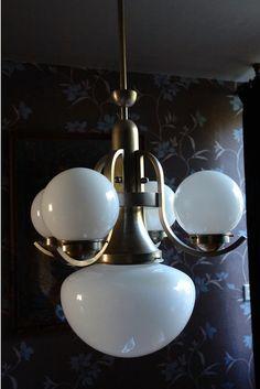 Original Art Deco / Bauhaus lamp / chandelier by Adfabrum on Etsy, €799.00