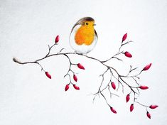 Robin Bird Tattoos, Robin Tattoo, Watercolor Lettering, Watercolor Bird, Watercolor Paintings, Animal Paintings, Easy Paintings, Robin Drawing, Slate Art