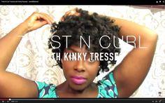 Twist N Curl Tutorial with KinkyTresses| - JenellBStewart