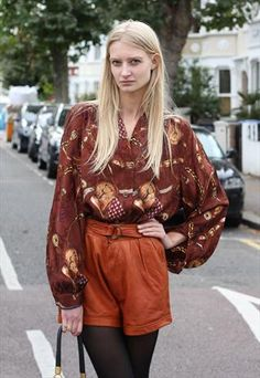 1980's Toffee Brown Soft Leather Shorts