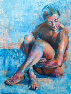 Bold color figure painting Original Artwork, Original Paintings, Figure Painting, Portrait, Bold Colors, The Originals, Headshot Photography, Vivid Colors, Portrait Paintings