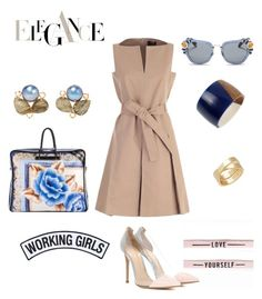 """Le mercredi, c'est la petite robe nude .."" by heleny-brown on Polyvore featuring mode, Paule Ka, Balenciaga, Robert Lee Morris, Bounkit, Miu Miu, Gianvito Rossi, Working Girls et Cartier"