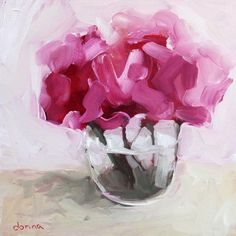 592 Likes, 15 Comments - Donna Downey Oil Painting Flowers, Abstract Flowers, Flower Paintings, Easy Watercolor, Abstract Watercolor, Flower Vases, Flower Art, Colorful Paintings, Acrylic Paintings