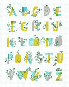 Spring Garden Alphabet - illustration: Sarah Walsh