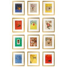Complete Series of Framed Vintage Flair Magazines | From a unique collection of antique and modern prints at https://www.1stdibs.com/furniture/wall-decorations/prints/