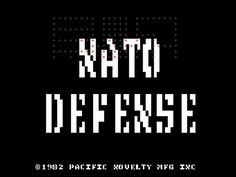 NATO Defense, Arcade,  Pacific Novelty,1982