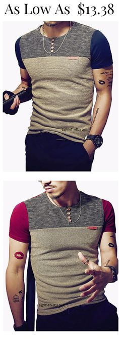 Stylish trendy casual formal men T-shirt. All-matching T-shirt for any occasion. Click on the picture to shop it at $11.27 only.