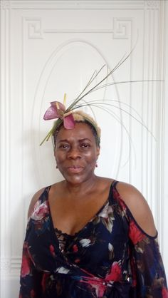 Floral hair piece.  Ascot get ready