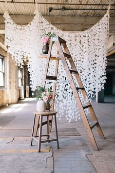 DIY Wax Paper Backdrop  Read more - https://www.stylemepretty.com/2013/09/27/diy-wax-paper-backdrop/