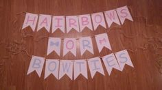 Gender reveal party banner. Hair bows or bow ties. Braylee's Sew Sweet Boutique