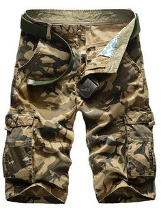 Men's Clothing Cheap Sale 2018 Mens Military Cargo Shorts Summer Army Green Cotton Shorts Men Loose Multi-pocket Shorts Homme Casual Bermuda Trousers 40 Factories And Mines