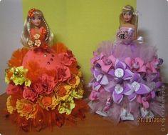 Мастер-класс Свит-дизайн День рождения Куклы из конфет МК Бумага гофрированная фото 1