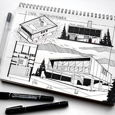 "1,019 Likes, 4 Comments - Fnsketch (@fnsketch) on Instagram: ""#Repost @absvdsgn - casa contemporanea sketch. #fnsketch"""
