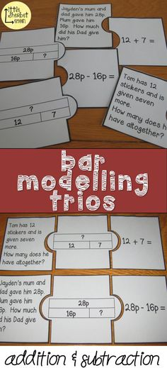 These have a word problem, bar model and the number sentence. These are particularly suitable for Grade and Year 1 & 2 children who use the bar model and methods linked to The White Rose Maths. Ks2 Classroom, Classroom Displays, Maths Display Ks2, Classroom Ideas, White Rose Maths, Mastery Maths, Ks2 Maths, Guided Maths, Maths Working Wall