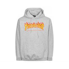 Thrasher Hoodie Flame Grey