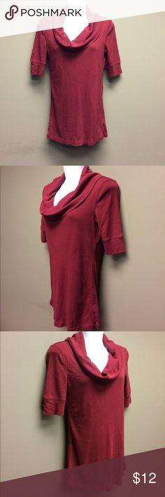 Express Deep Red Cowl Neck Shirt, S Express Deep Red Cowl Neck Shirt, S Express Tops