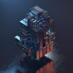 Cube with different grey panels and tiles. by AvantForm Contributor Raw & Rendered Isometric Art, 3d Figures, Surface Modeling, Environment Concept Art, Motion Design, Fine Art Paper, Art Boards, Fractals, Cool Pictures