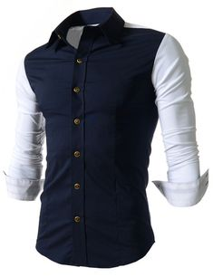"The ""Markus"" 2 Tone Stretch Dress Shirt – Tattee Boy Clothes"