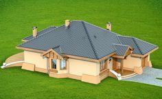 Projekat moderne prizemne kuće s garažom – Verona Simple House Design, Dream Home Design, Tiny House Living, My House, House Construction Plan, House Design Pictures, Bungalow House Design, Roof Design, Modern House Plans