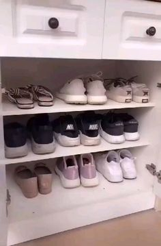 Shoe Organizer Rack for Closets - Adjustable Shoes Organizer and Shoe Storage, Double Deck Heels and Shoe Rack for Closet Organization Informations About Mintiml Shoes Rack Pin You can easily use my p Storage Rack, Diy Storage, Diy Organization, Organizing Ideas, Handbag Organization, Bathroom Product Organization, Shoe Storage Hacks, Organizing Shoes, Shoe Organiser