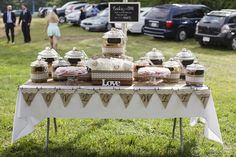 Wedding sweets!  Amazing custom cookie bar supplied by an aunt of the bride.  Photo by O'Brien Photo.  Event coordination by Events by Jackie M.  www.eventsbyjackiem.com