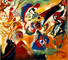 'Fragment 2 Pour Composition Vii', huile de Wassily Kandinsky (1866-1944, Russia)