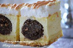 ,,SERNIK Z KULKAMI MAKOWYMI'' | Sweet Recipes, Cake Recipes, Dessert Recipes, Baby In Pumpkin, Polish Recipes, Cheesecakes, Yummy Cakes, Food Cakes, Food And Drink