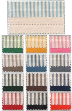 Ticking Woven Stripes - James Thompson. Great colors and woven, not printed.
