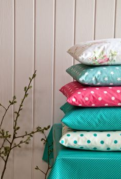 Lots of cushions in beautiful designs and colours