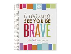 be brave - keep it simple notebook