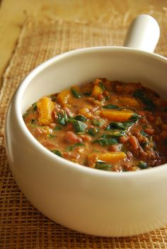 Munggo with Gata and Kalabasa (mung beans with coconut milk and squash)