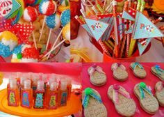 Our BF Veronica from Ronisugar Creations had a pool party for her oldest daughter Roberta. We created a few treats for her beach ball cake pops, ...
